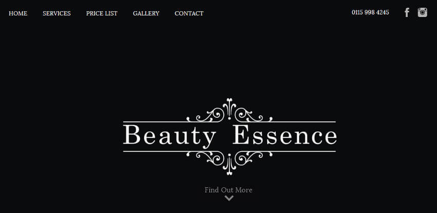 Beauty Essence Website
