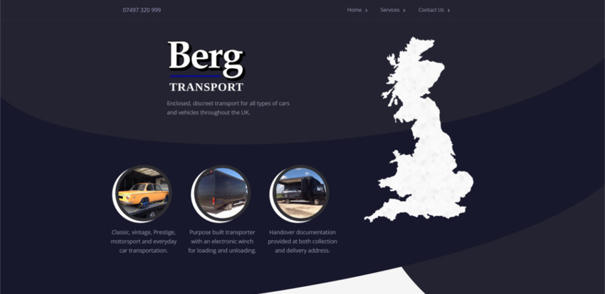 Berg Transport Website
