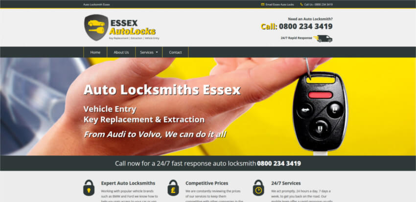 Essex Autolocks Website