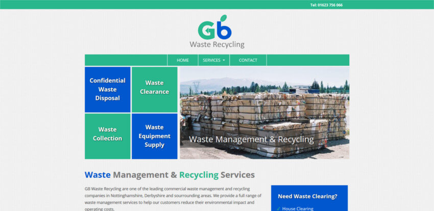 GB Waste Recycling Website