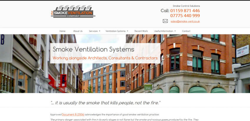 The Smoke Ventilation Company Website