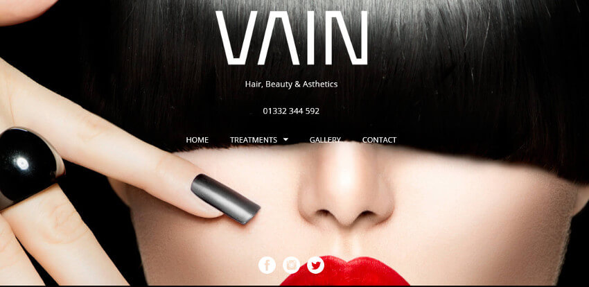 Vain Salon Website