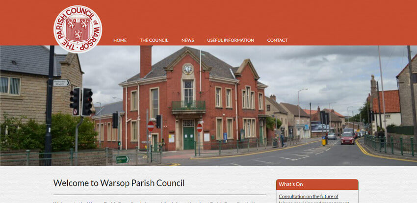 Warsop Parish Council Website