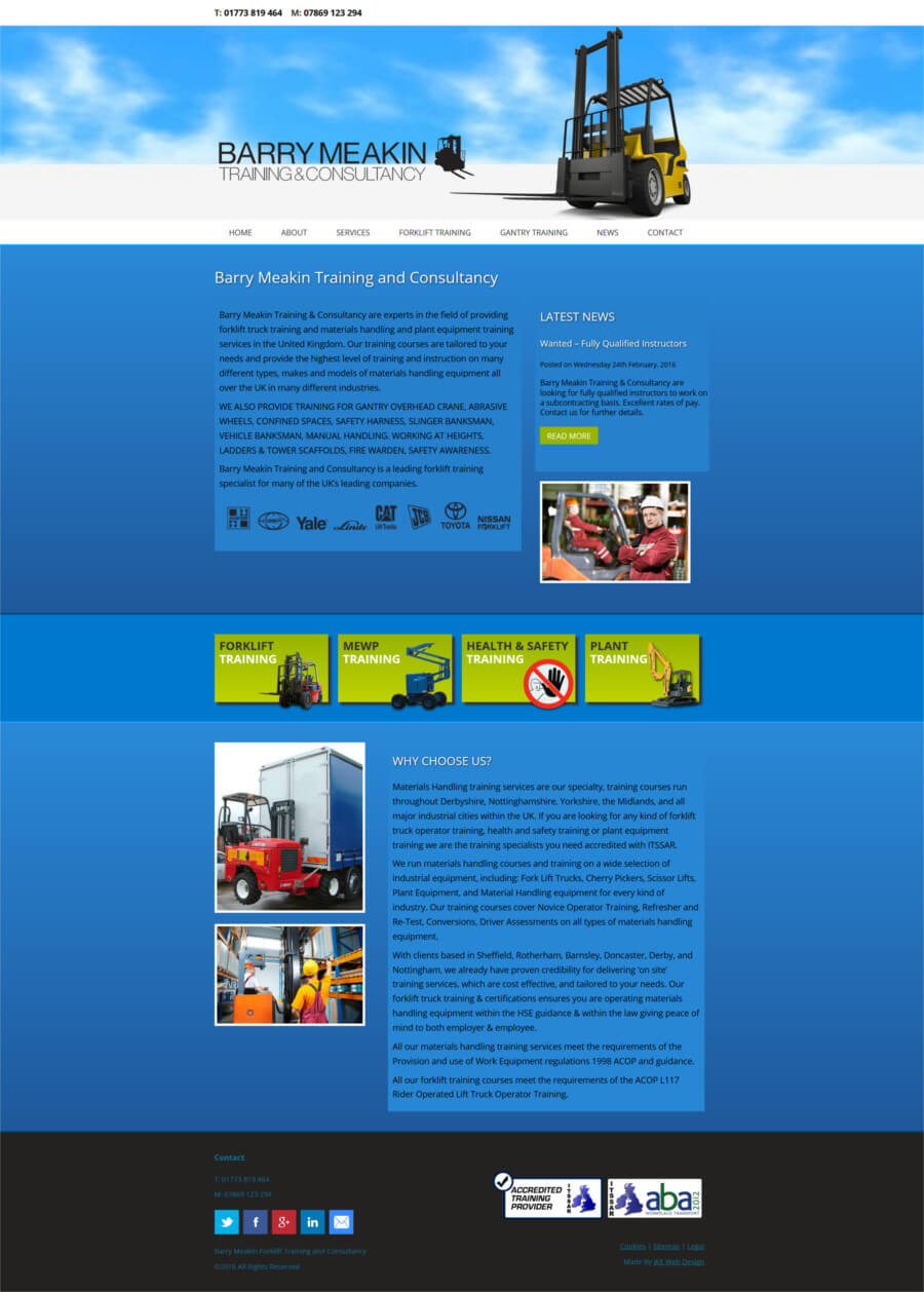Barry Meakin Forklift Training & Consultancy website