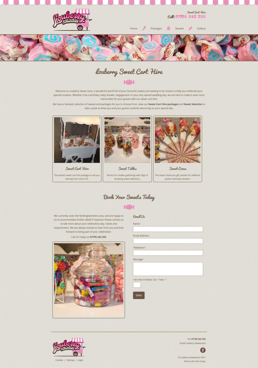 Louberry Sweetcarts website