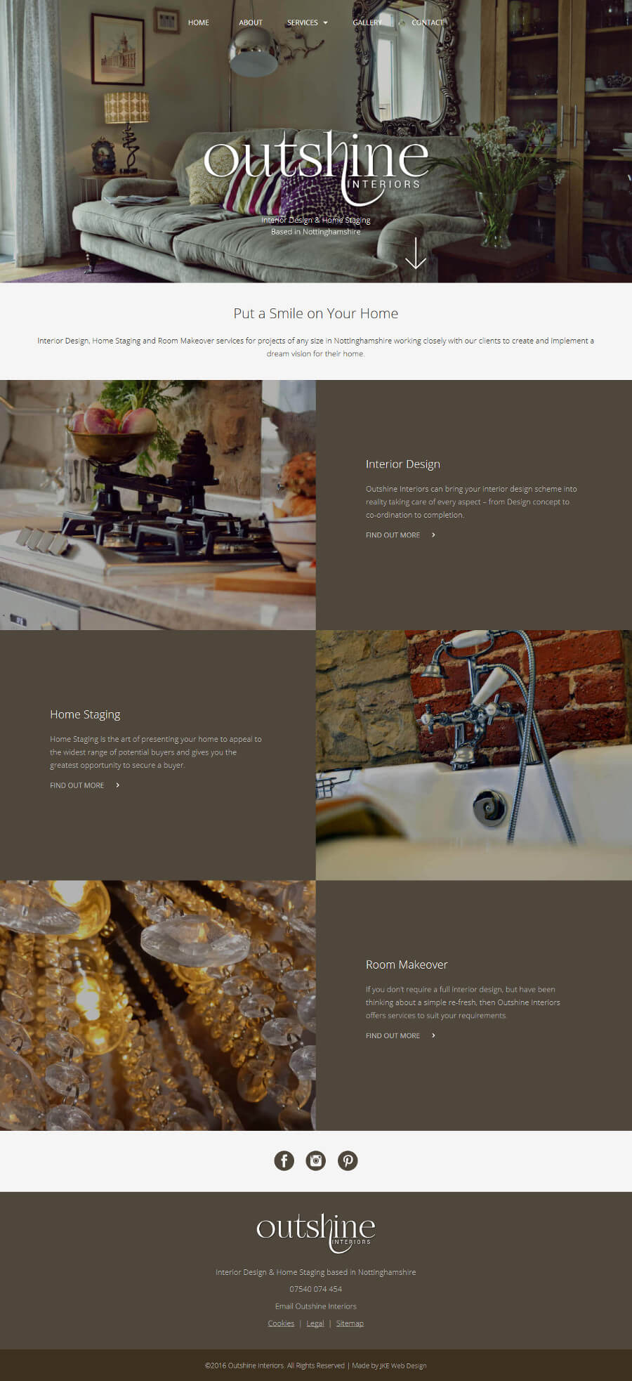 Outshine Interiors website