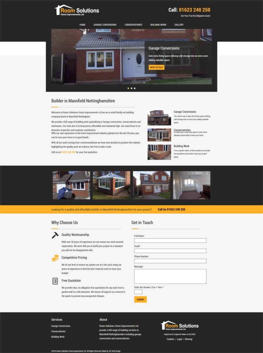 Room Solutions Home Improvements website