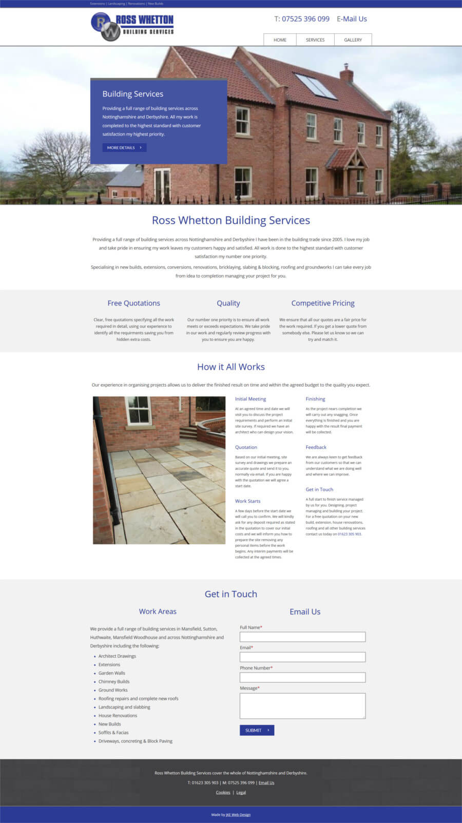 Ross Whetton Building Services website